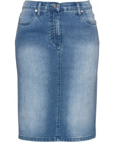 Джинсовая юбка с поясом Bonprix