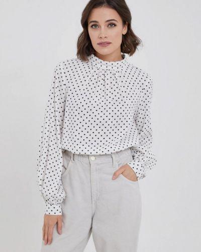 С рукавами белая блузка Y.o.u.