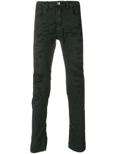 Черные джинсы на пуговицах с карманами Poème Bohémien