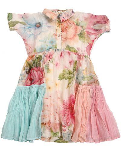 Платье мини на пуговицах с короткими рукавами с воротником Péro