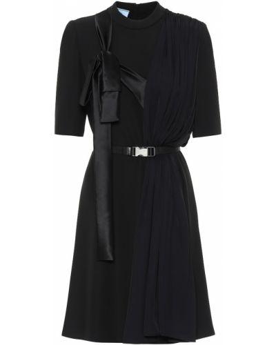 Вечернее платье мини с поясом Prada