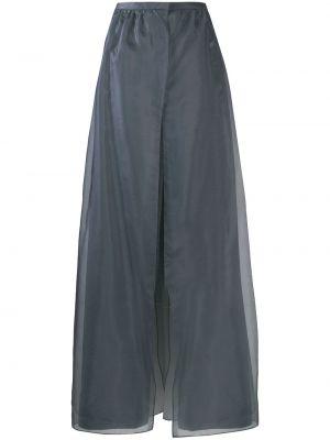 Шелковые серые брюки с поясом Giorgio Armani