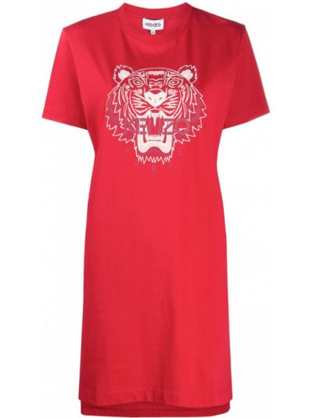 Платье мини короткое - красное Kenzo