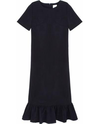Прямое с рукавами черное платье Edit