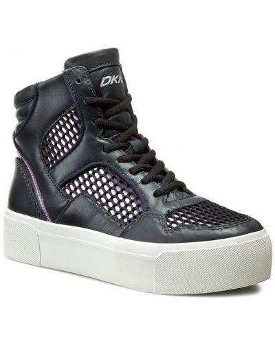 Sneakersy granatowe Dkny