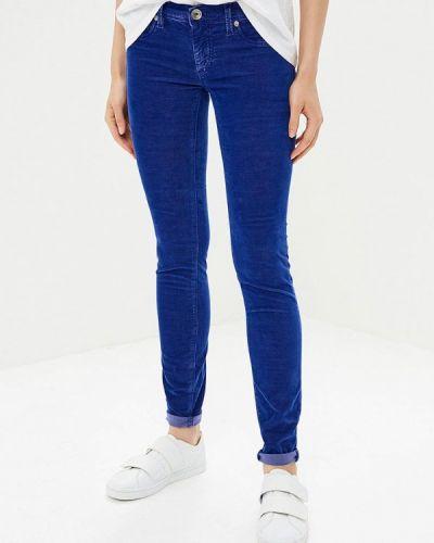 Синие зауженные брюки Gas