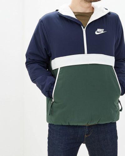 Утепленная куртка осенняя синяя Nike