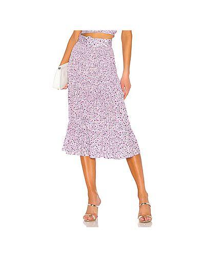Плиссированная юбка на резинке розовая Nicholas