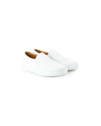 Белые кожаные слипоны Pellettieri Di  Parma