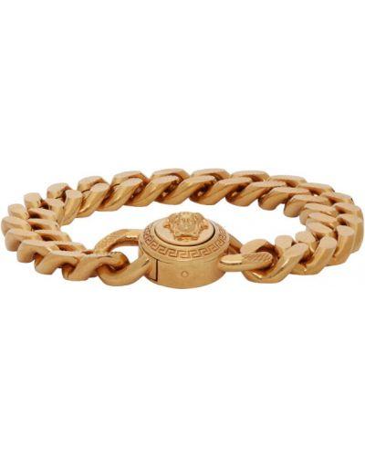 Złota bransoletka ze złota oversize Versace