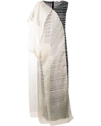 Платье макси в полоску - черное Chalayan