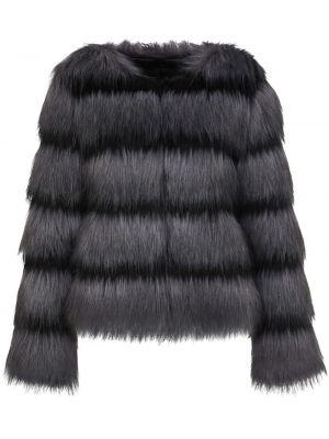 Czarna długa kurtka z długimi rękawami Unreal Fur