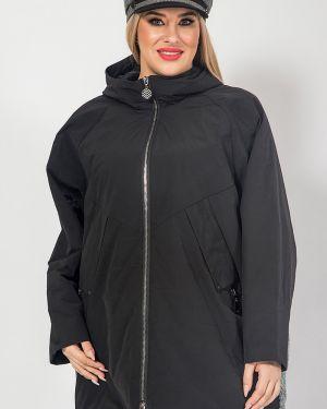 Облегченная куртка с капюшоном мятная с рукавом реглан на синтепоне Luxury