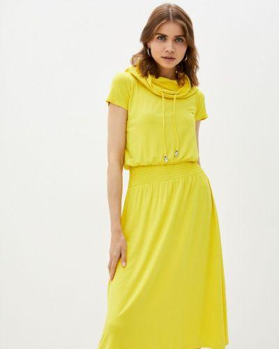 Повседневное желтое платье мадам т