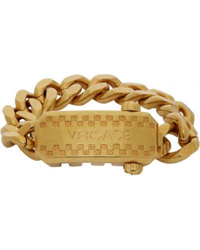 Браслет золотой для полных Versace