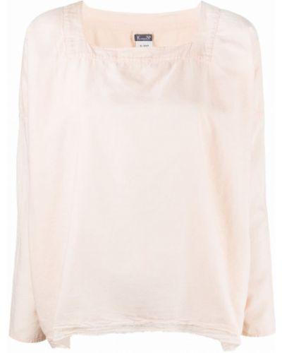 Хлопковая розовая рубашка с длинными рукавами Kristensen Du Nord