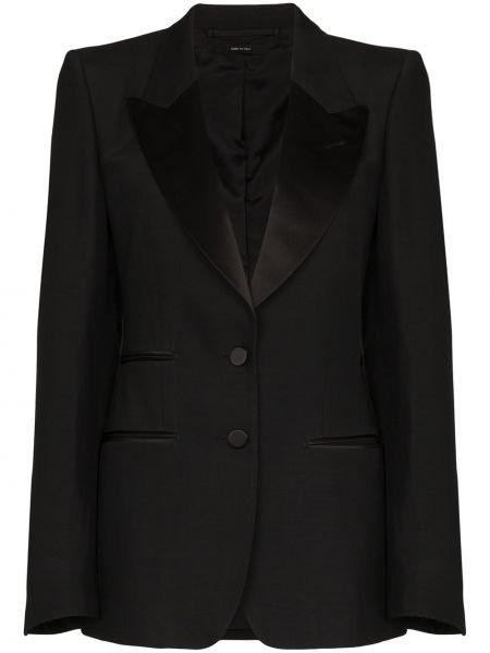 Czarna marynarka elegancka z długimi rękawami Tom Ford