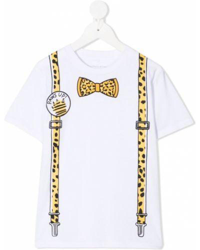 Biały t-shirt bawełniany z printem Stella Mccartney Kids