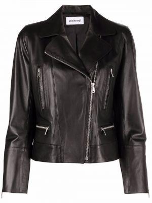Черная кожаная куртка байкерская Sylvie Schimmel