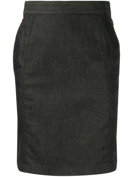 Джинсовая юбка карандаш с завышенной талией Céline Pre-owned