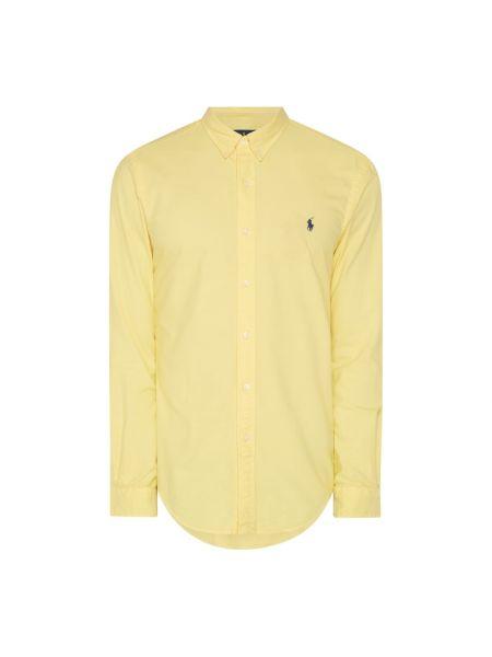 Bawełna żółty puchaty koszula oxford z mankietami Polo Ralph Lauren