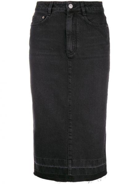 Czarna spódnica ołówkowa z paskiem bawełniana Givenchy