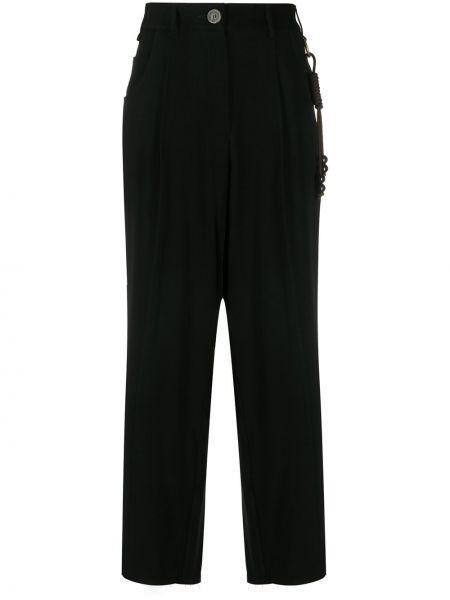 Szerokie spodnie z wysokim stanem czarne Song For The Mute