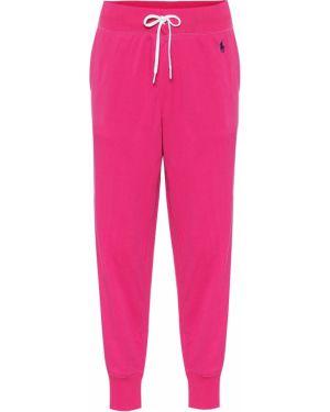 Спортивные брюки розовый пуховые Polo Ralph Lauren
