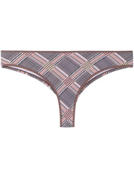 Brązowe majtki bawełniane z printem Marlies Dekkers