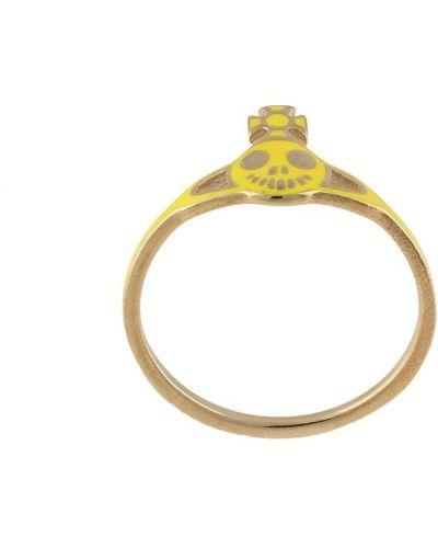Żółty złoty pierścionek pozłacany Vivienne Westwood