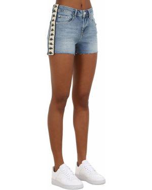 Джинсовые шорты со стразами Kappa