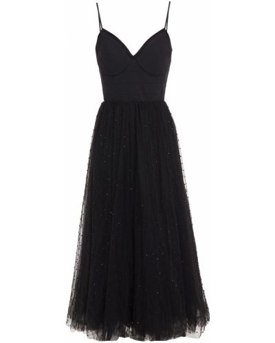 Платье миди из фатина - черное Maria Lucia Hohan
