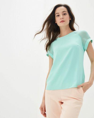 Блузка с коротким рукавом бирюзовая весенний Yuna Style