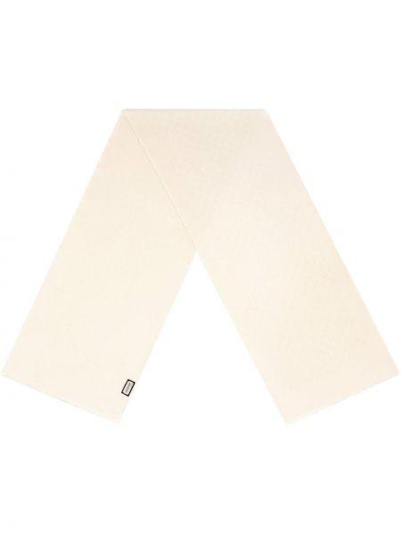 Kaszmir biały szalik przycięte Gucci