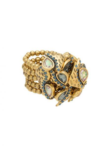 Золотистое кольцо металлическое золотое Camila Klein