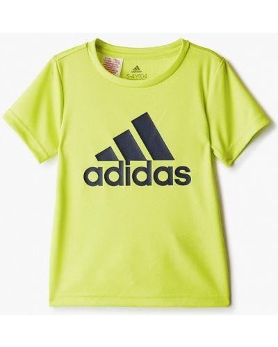 Зеленая спортивная футболка Adidas