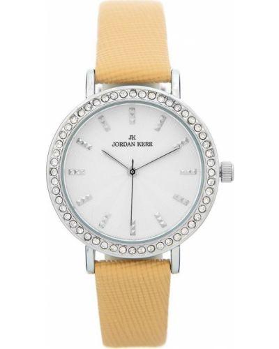 Biały klasyczny zegarek skórzany Jordan Kerr