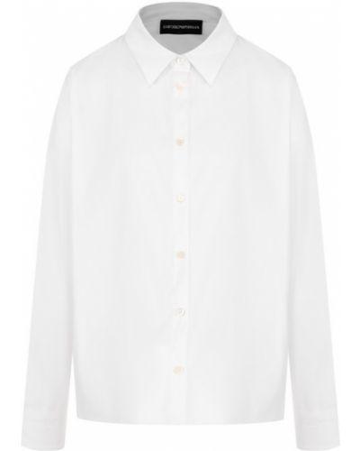 Блузка хлопковая однотонная Emporio Armani
