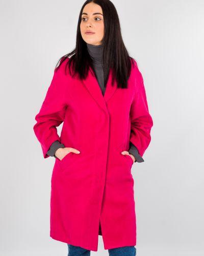 Розовое прямое пальто Only