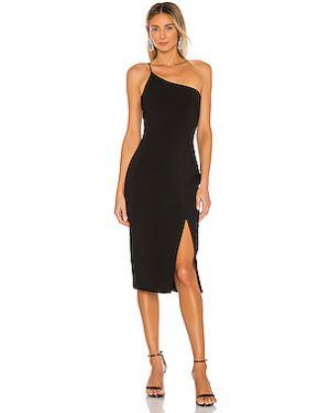 Черное шелковое платье на молнии с подкладкой Likely