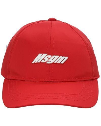 Nylon z paskiem kapelusz z haftem Msgm