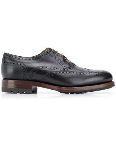 Туфли на шнуровке черные Berwick Shoes