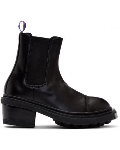 Кожаные черные ботинки на каблуке Eytys