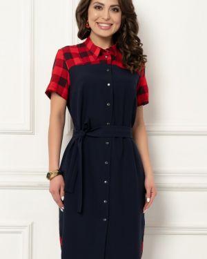 Платье мини со вставками классическое Bellovera