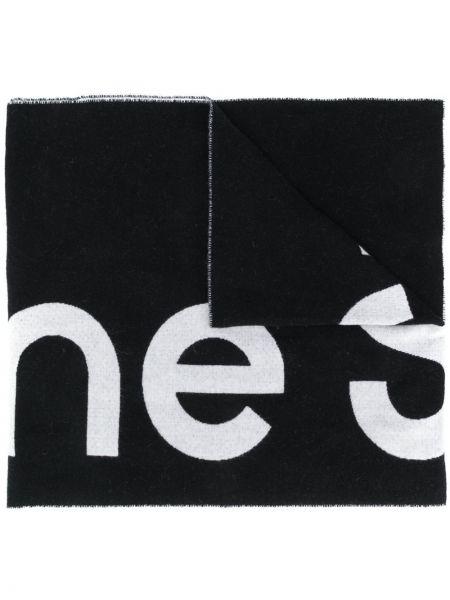 Wełniany czarny szalik Acne Studios