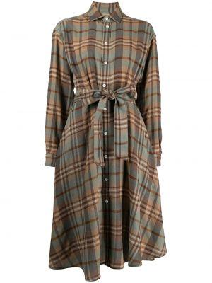 Шерстяное платье миди - коричневое Polo Ralph Lauren