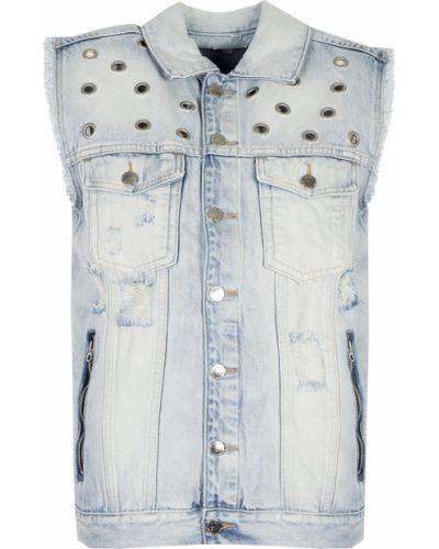 Niebieska kamizelka elegancka Juicy Couture