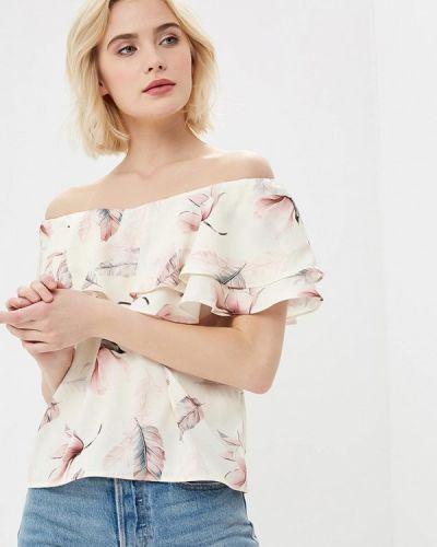 Бежевая блузка с открытыми плечами Love Republic