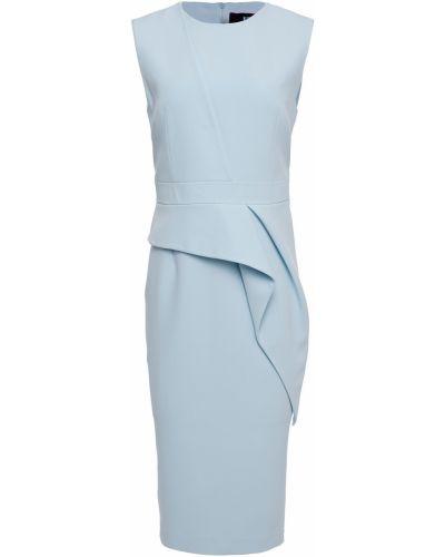 Синее платье стрейч из крепа Safiyaa