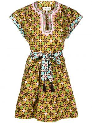 Разноцветное платье Saloni